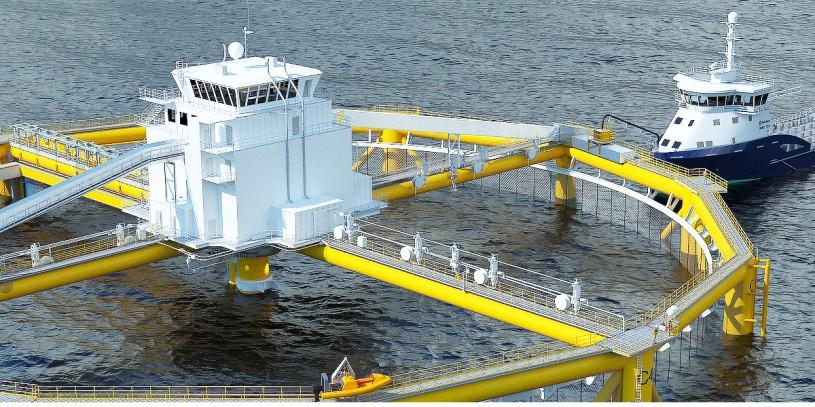 Acuicultura en mar abierto en noruega