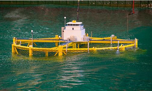 Pruebas a escala de estructura para cultivo de peces en mar abierto